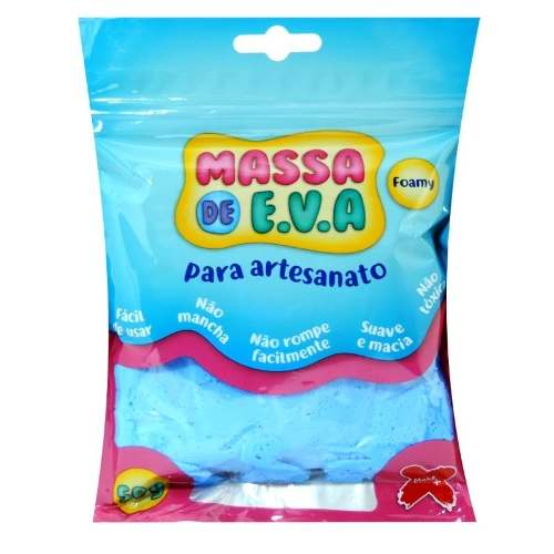 Kit 10 unidades Massa Eva Lisa Artesanato Foamy 50g Make+