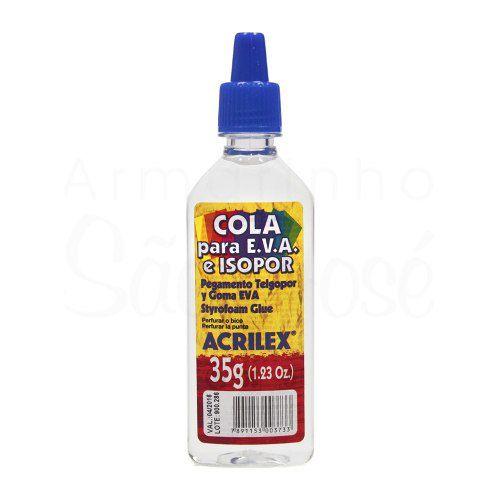 Cola Eva Isopor Artesanato Acrilex 35g - 12 Unidades Atacado