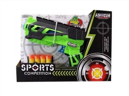 Air Gun Bang Arma Lança Dardos - Toys Factory - Similar Nerf
