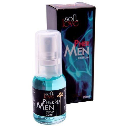 Perfume Deo Colônia Afrodisíaco Pher Men Feromônio Masculino 20ml Soft Love