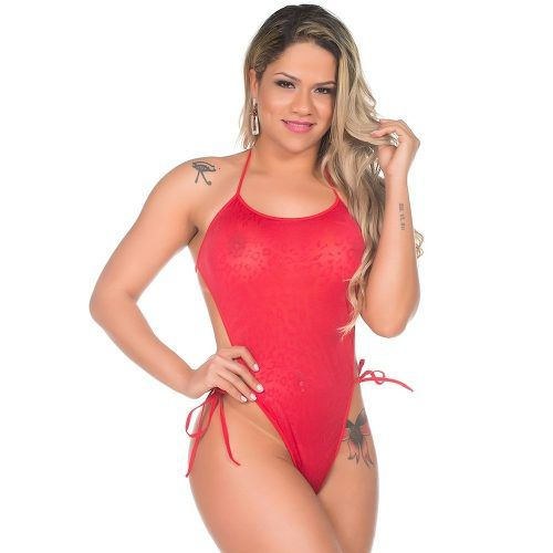 Mini Body Sensual Renda Pimenta Sexy