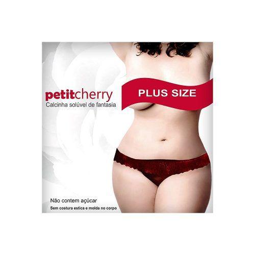 Calcinha Plus Size Comestível Sabores Petit Cherry Caminhos do Amor