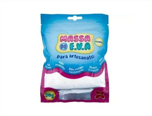 Massa Eva Lisa Artesanato Cores Variadas Foamy 1 unidade 50g Make Mais
