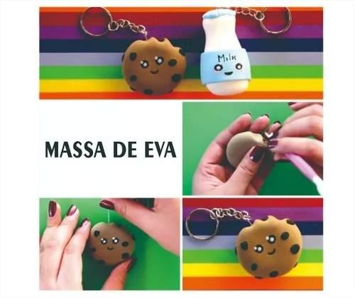 Massa De Eva 250g Kit Com 5 Pacotes Cores Variadas Make +