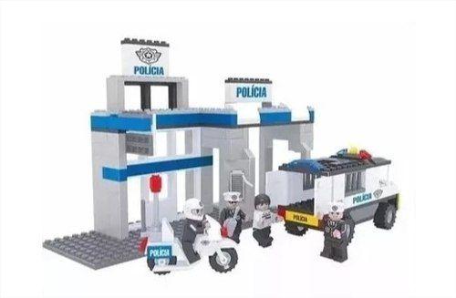 Estação Policial 286 Peças Click It Play Cis - Tipo Lego