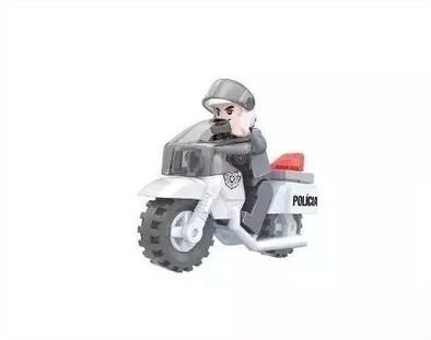 Moto Policial 26 Peças Click It Tipo Lego
