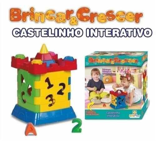 Jogo Pedagógico de Encaixe Brinquedo Educativo Castelinho Interativo Didático - Diviplast