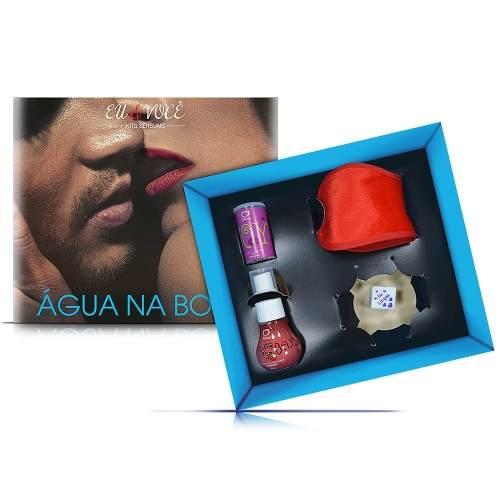Kit Sensual Água Na Boca Beijo Gostoso Venda, bolinha, gel beijável e dado Sexy Fantasy