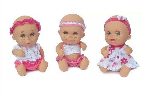 Boneca Babies Expressões Trigêmeas Em Vinil Bee Toys