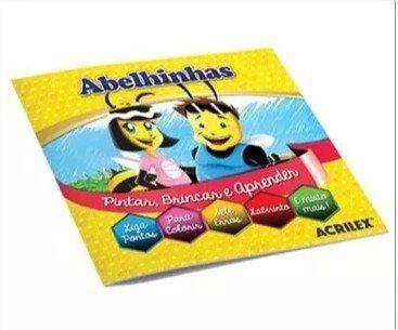 Kit Criativo Para Colorir Artkids Kit Bolsinha Caneta, Giz e Revista de Atividades Acrilex