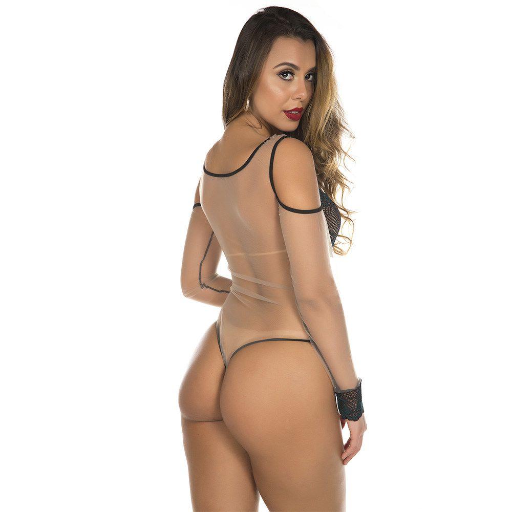 Body Sensual Mistérios com transparecia Pimenta Sexy