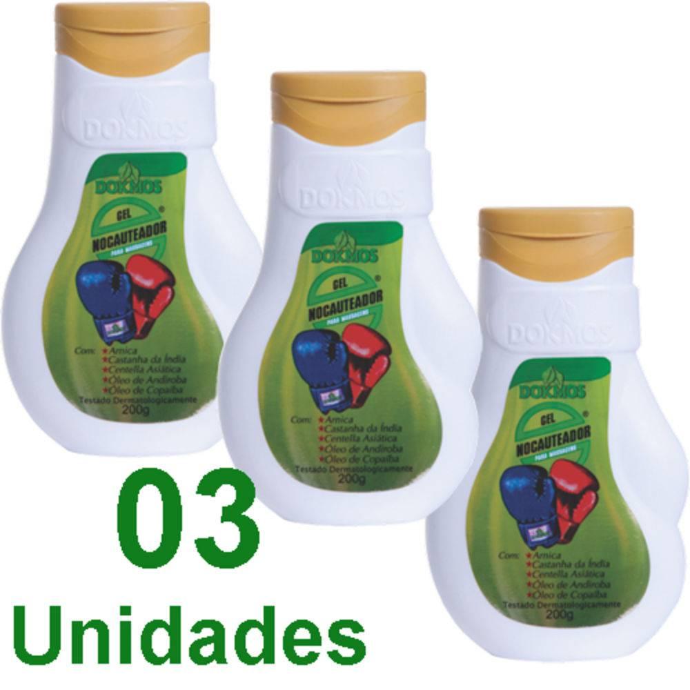 Gel Nocauteador Dokmos Original 200ml Massagem kit c/3