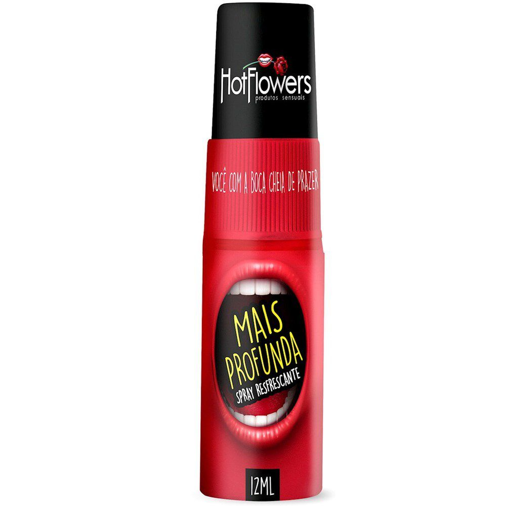 Gel Spray Garganta Mais Profunda Refrescante Sexo Oral 12ml Hot Flowers