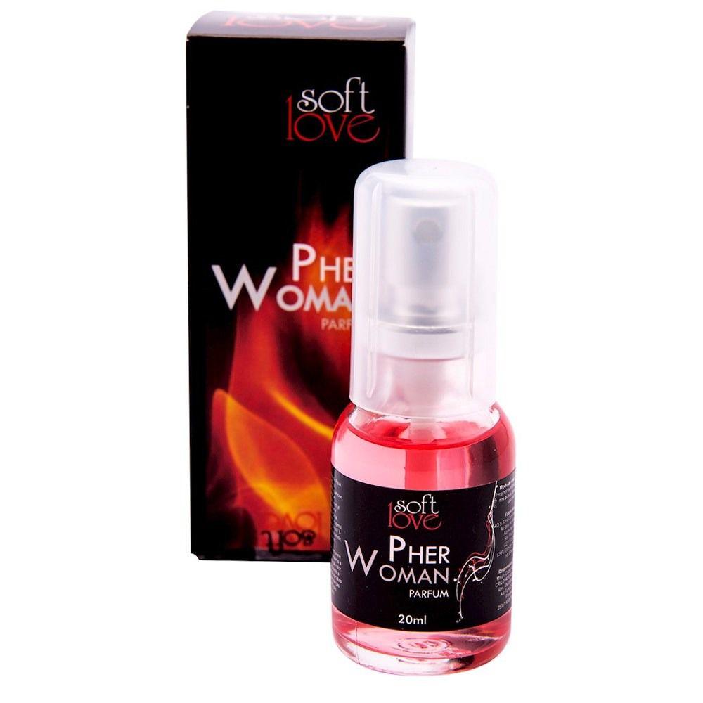 Perfume Feminino Feromônio Pher Woman Afrodisíaco 15ml Soft Love
