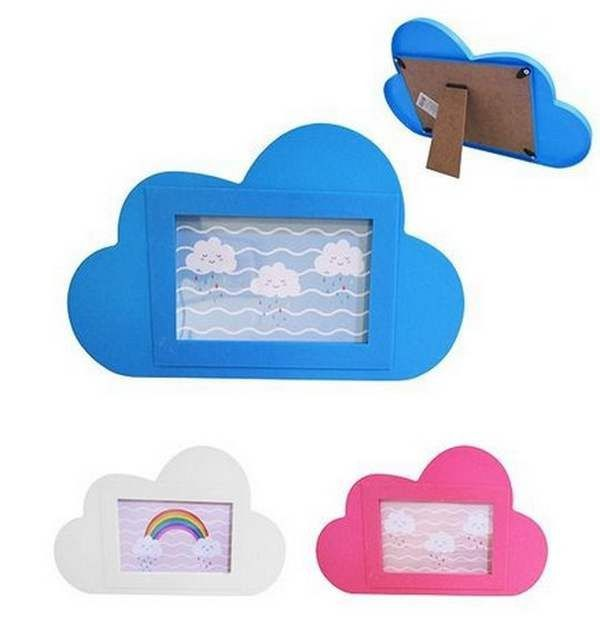 Porta retrato Nuvem Chuva de benção 10x15 cm Importado