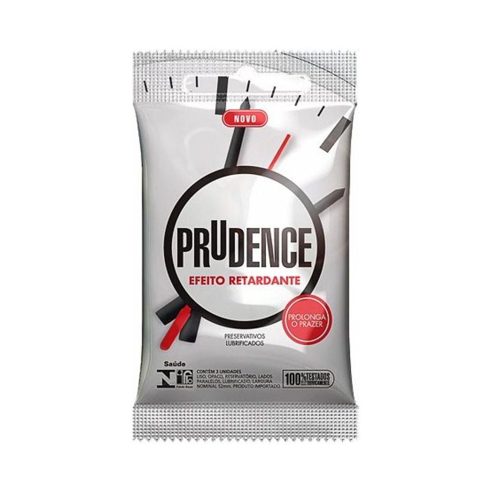 Preservativo Sensivel e Retardante Camisinha Prudence kit com 12 unidades