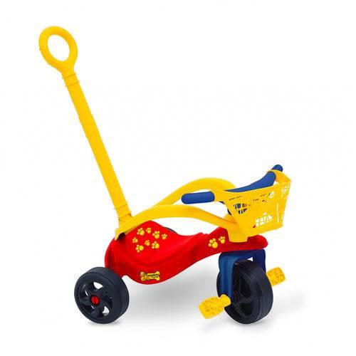 Triciclo Cachorrinho com Empurrador/Proteção/Cestinha - Xalingo