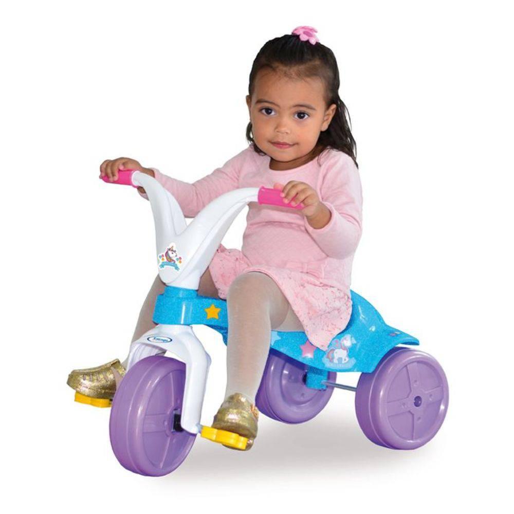Triciclo Velotrol Unicórnio Infantil Meninas Xalingo