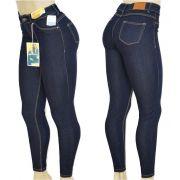 701fc716f Calça Jeans Feminina Legging Super Lipo Sawary Cintura Alta Azul Escuro