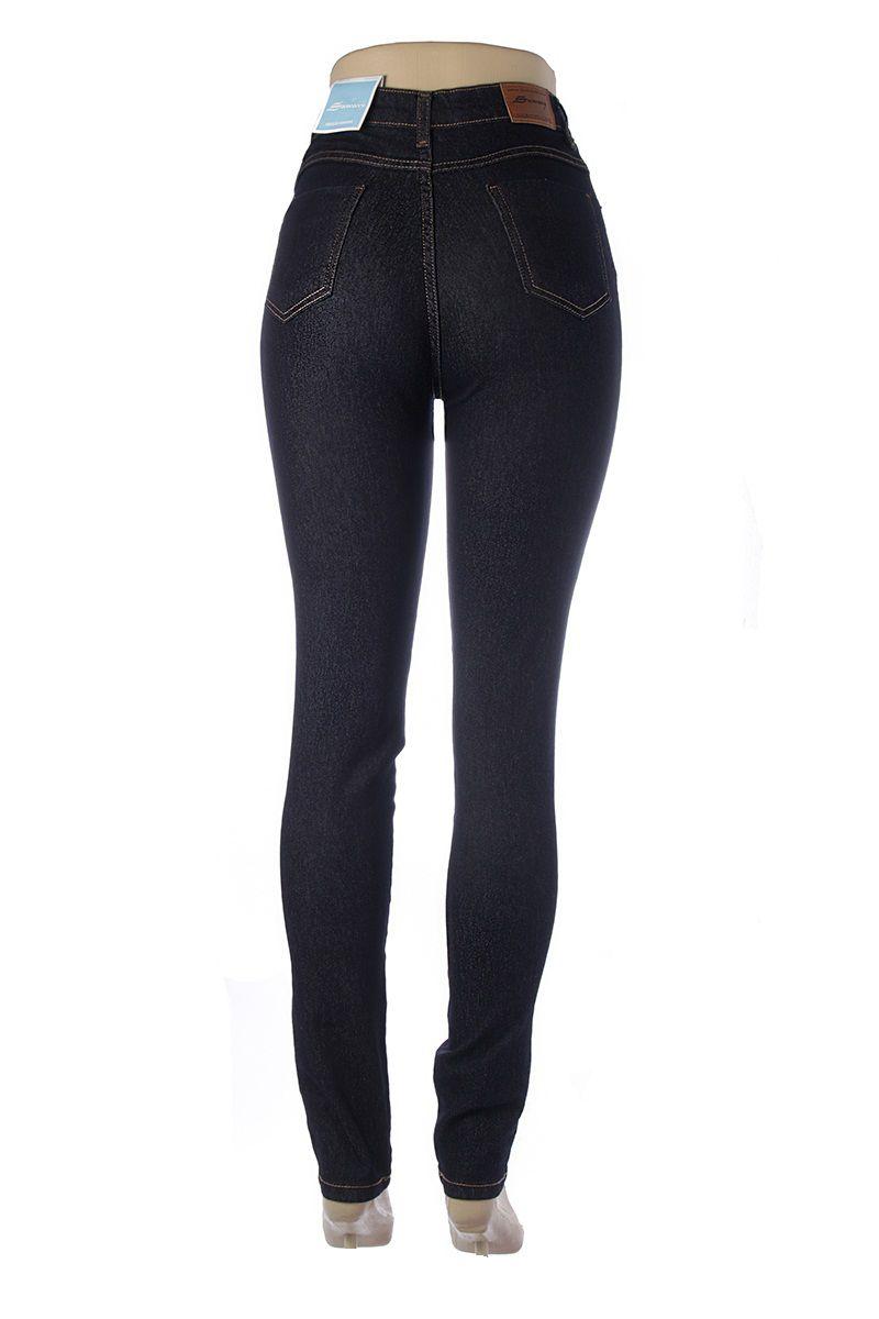 8e55e4cea ... Calça Jeans Feminina Legging Super Lipo Sawary Cintura Alta Azul Escuro