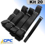 Cinta Abraçadeira Multiuso 4 Tamanhos Kit com 20 Unidades