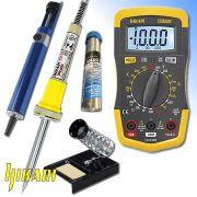 Kit de Eletrônica e Solda com 5 Itens KH-0073 Hikari