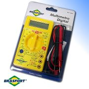 Multímetro Digital Com Alerta Sonoro Completo 8522 Brasfort