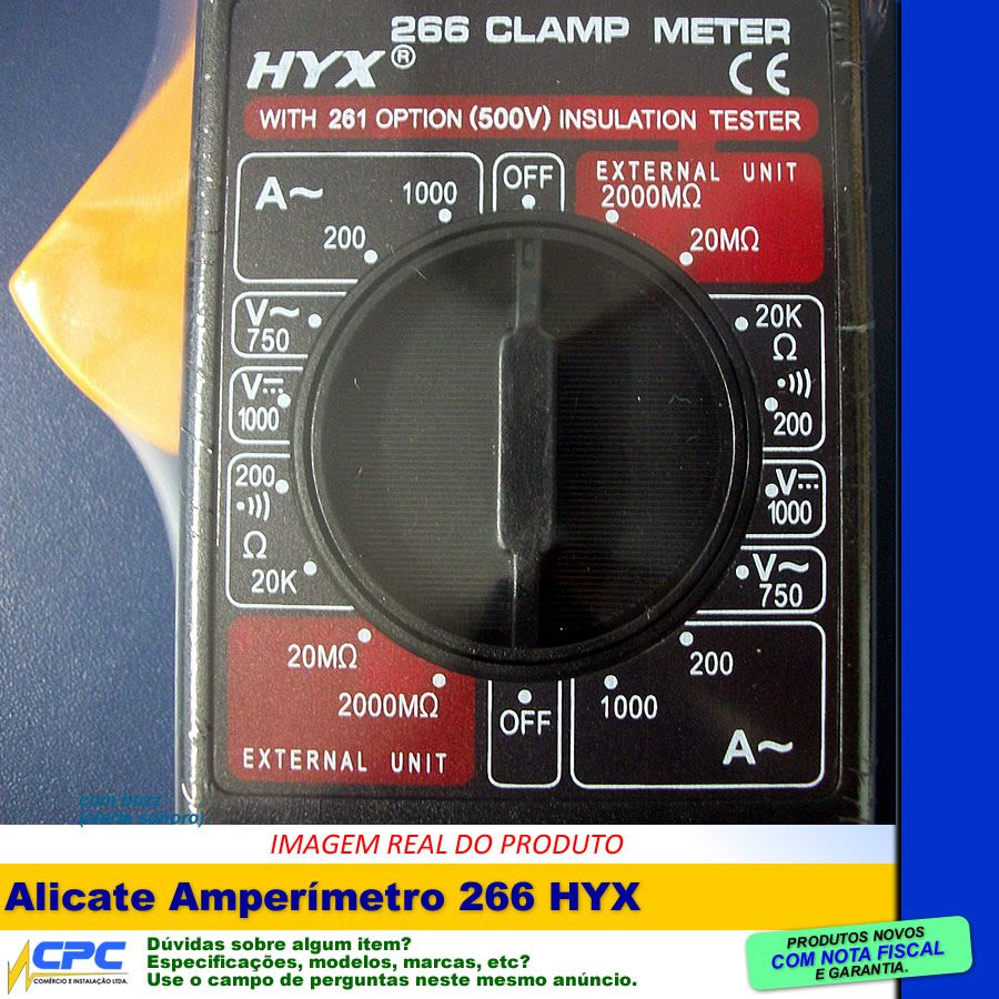 Alicate Amperímetro Com Alerta Sonoro Completo HYX