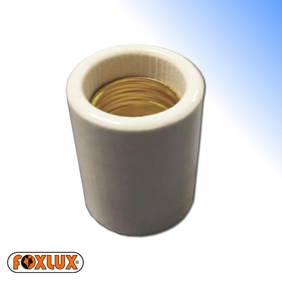 Bocal Porta Lâmpada Porcelana Padrão E27 Foxlux