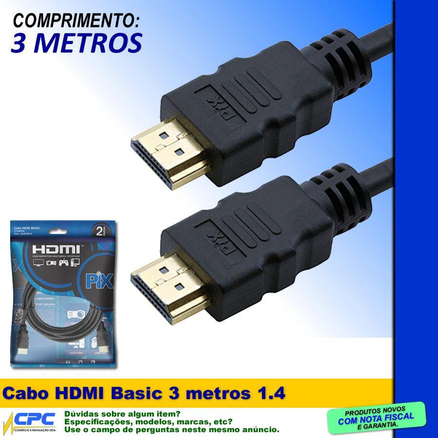 Cabo HDMI Basic 1.4 3 metros