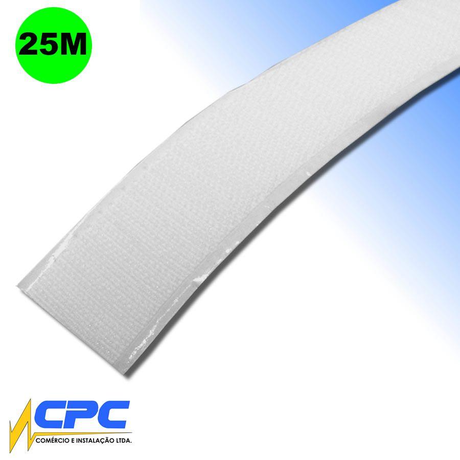 Fecho de Contato Lado Macho com Adesivo Branco 16mm x 25m
