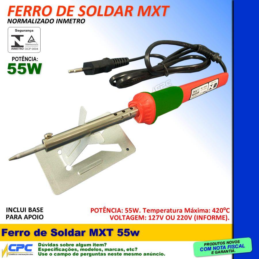Ferro de Soldar 55w 127v MXT com INMETRO