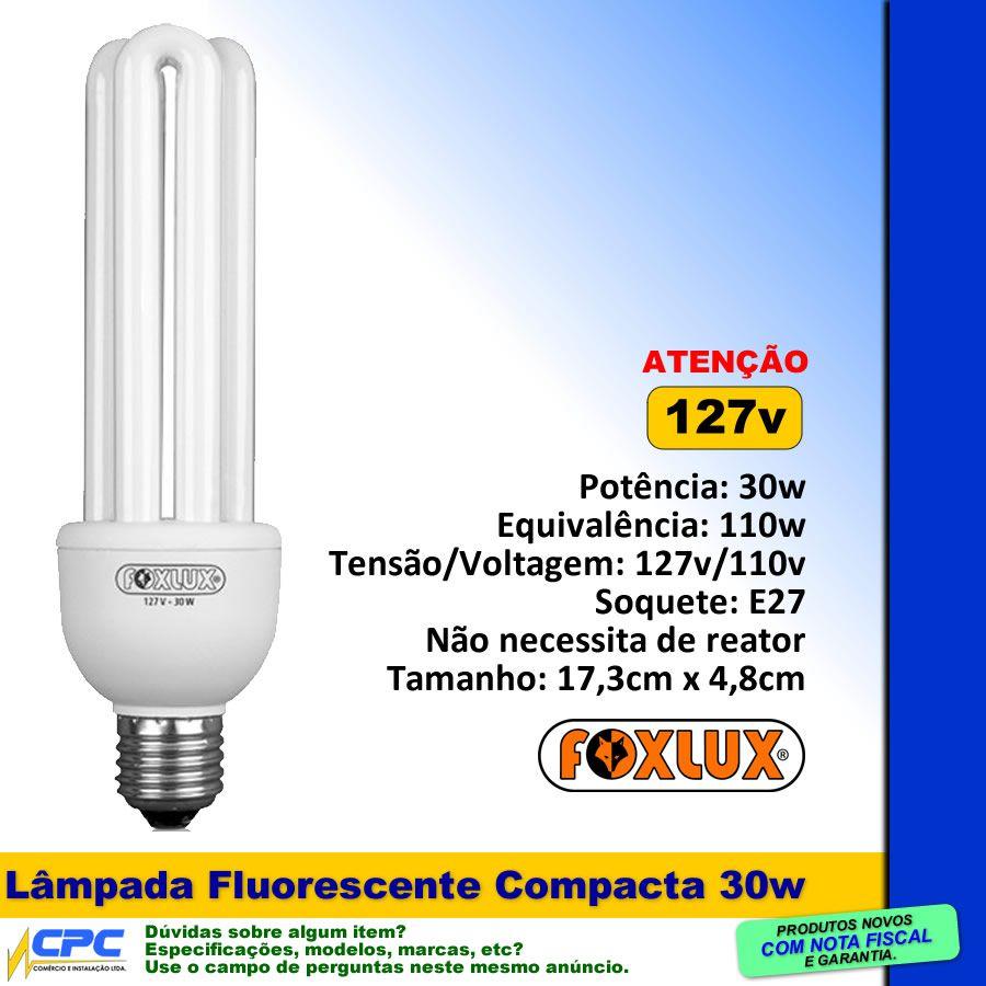 Lâmpada Fluorescente Compacta 30w 127v Foxlux