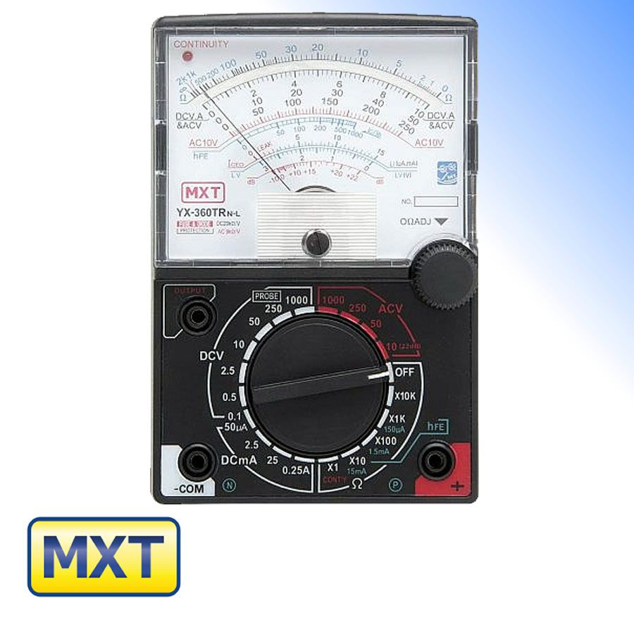 Multímetro Analógico com Led de Continuidade FT-360TRNL MXT