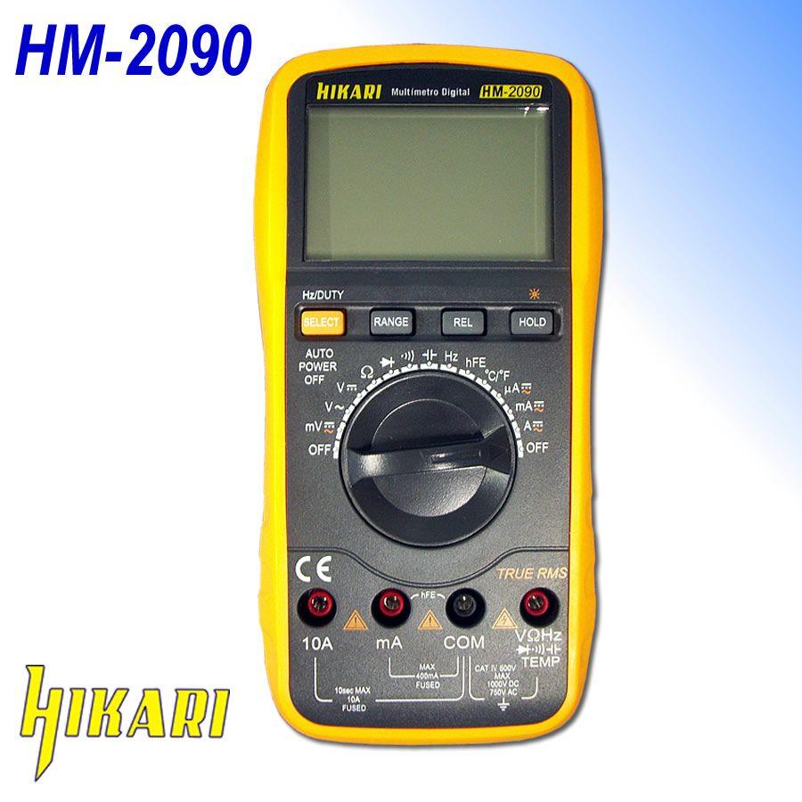 Multímetro Digital Com Alerta Sonoro True RMS HM-2090 Hikari