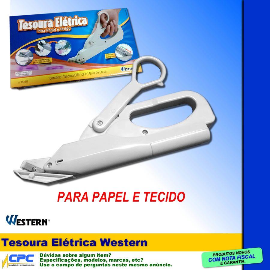 Tesoura Elétrica para papel e tecido Western