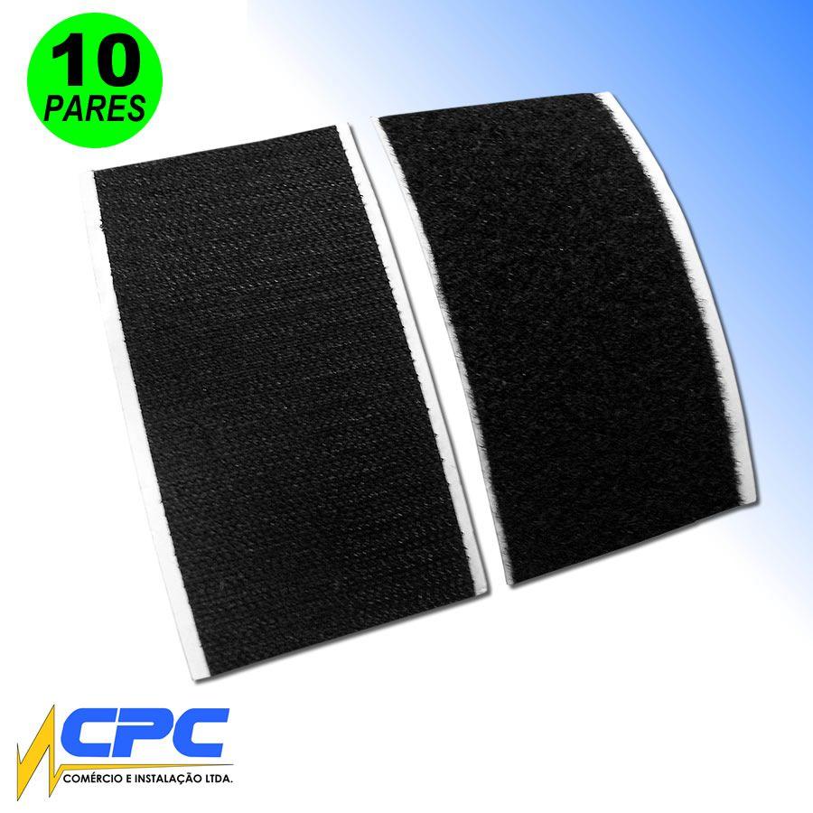 Tiras de Fecho de Contato Adesivo para Pedalboard Preto 5cm x 10cm