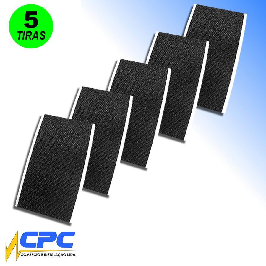 Tiras de Fecho de Contato Macho Adesivo para Pedalboard Preto 5cm x 10cm