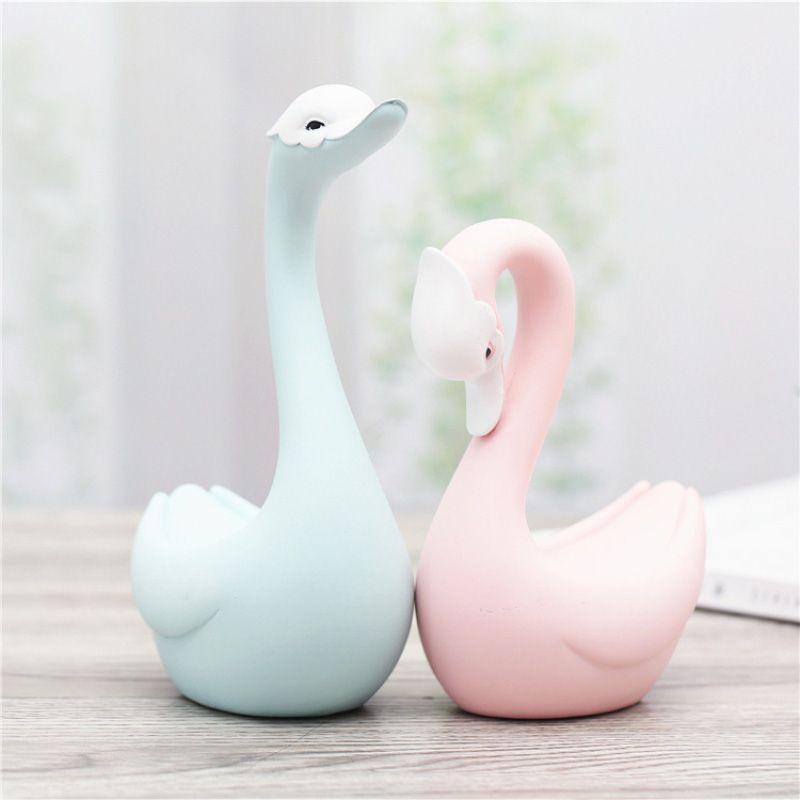 Cofres Decorativo Cisne em Cerâmica (DUAS PEÇAS)