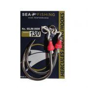 Assist Hook Circular Sea Fishing Montado c/ Split (2 Un)