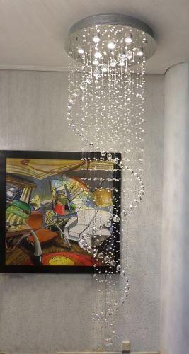 Plafon Cristal Espiral 2,25m Mais Luz