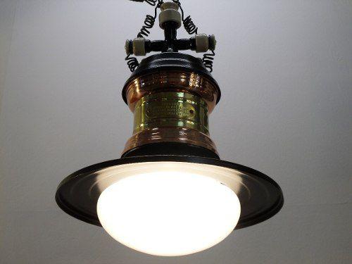 Lampião Estilo Rio Antigo Preto/cobre P