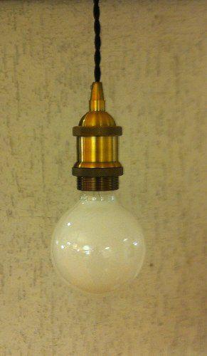 Pendente Retro Vintage Ouro Velho C/ Lampada Led