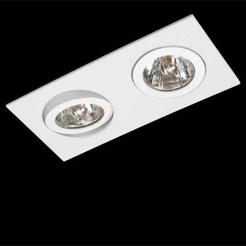 Spot Duplo Embutir Ar111 Bellaluce Branco
