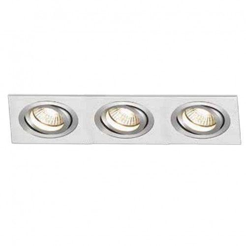 Spot Triplo Embutir Par20 Aluminio Escovado Bella