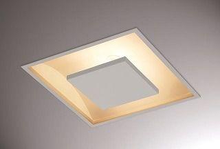 Luminaria Embutir Quadrada 50x50 Luz Indireta C/ 4 Lamp. 9w