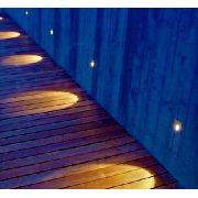 Balizador Led Parede Escada Preto Interlight 3911 2,5w 3000k