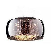 Plafon Cristal Vidro Cromado 6l Bella 50cm Com Lâmpadas