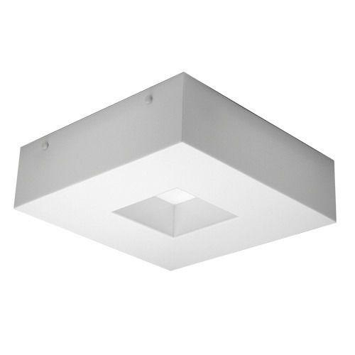 Plafon Acrílico Quadrado Recuado 40x40 Para 4 Lampadas