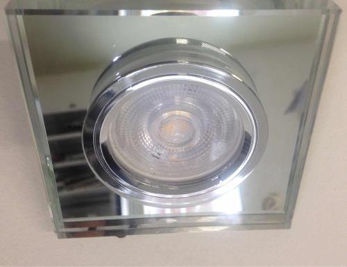 Spot Cristal Dicróica Quadrado C/ Lâmpada Led